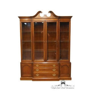 20th Century Traditional Hickory Furniture American Masterpiece Collection Mahogany Breakfront China Cabinet Preview