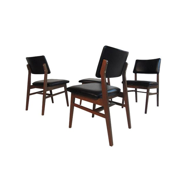 Jens Risom Series 7611 Walnut Dining Chairs For Sale - Image 10 of 10