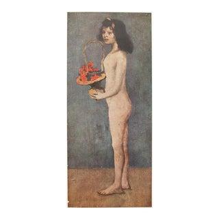 1948 Original Picasso Jeune Fille a La Corbeille Parisian Lithograph For Sale