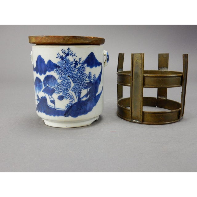 Antique Chinese Blue & White Tea/Tobacco Jar For Sale - Image 5 of 11