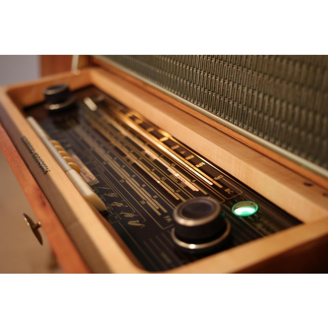 1956 Mid Century Grundig 9065 Stereo Console For Sale - Image 4 of 8
