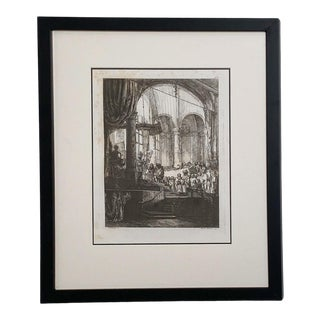 Late 18th Century Rembrandt Etching #5, by Francesco Novelli For Sale