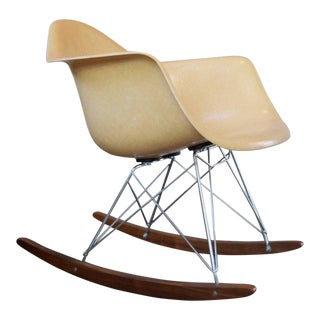 1960s Mid-Century Modern Eames for Herman Miller Armshell Rocking Chair For Sale