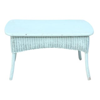 Blue Rattan Center Table For Sale