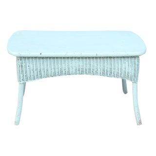 Blue Rattan Center Table