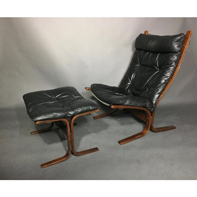 "Ingmar Relling ""Siesta"" Lounge Chair + Ottoman, Norway 1960s For Sale - Image 12 of 12"