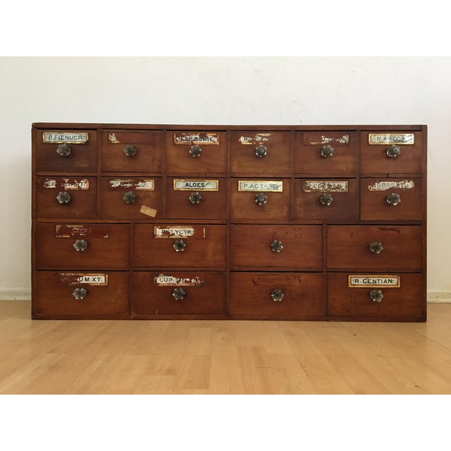 1800s English Apothecary Cabinet - Image 2 of 11