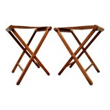Image of Boho Chic Military Folding Ottomans / Stools, a Pair For Sale