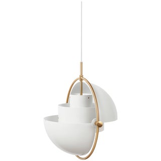 Brass Multi-Light Pendant, Louis Weisdorf For Sale