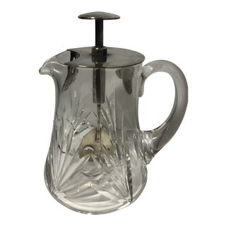 1934 The Rapid Crystal Cocktail Shaker For Sale