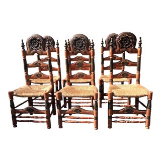 Antique Chairs From Catalonia - Set of 6 For Sale