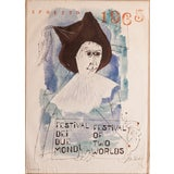Image of Mid Century Spoleto Art Poster by Ben Shahn For Sale