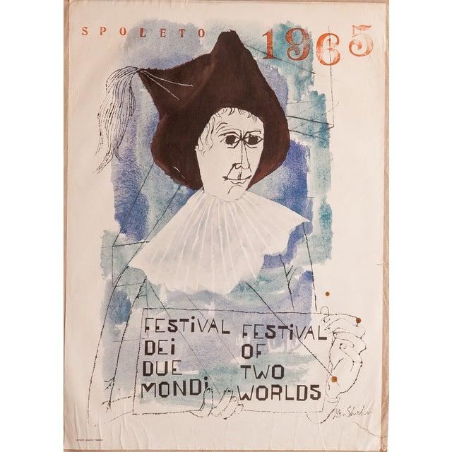 Mid-Century Spoleto Art Poster by Ben Shahn For Sale