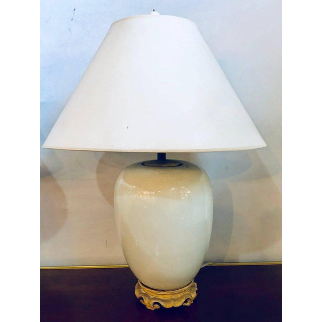 Hollywood Regency Hollywood Regency Style Porcelain Ginger Jar Lamps - a Pair For Sale - Image 3 of 13
