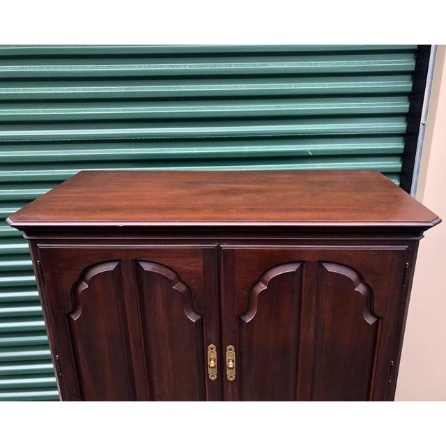 Ethan Allen Georgian Court Cherry Armoire Dresser For Sale - Image 11 of 12