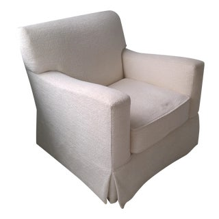 Brousse Chenille Swivel Armchair