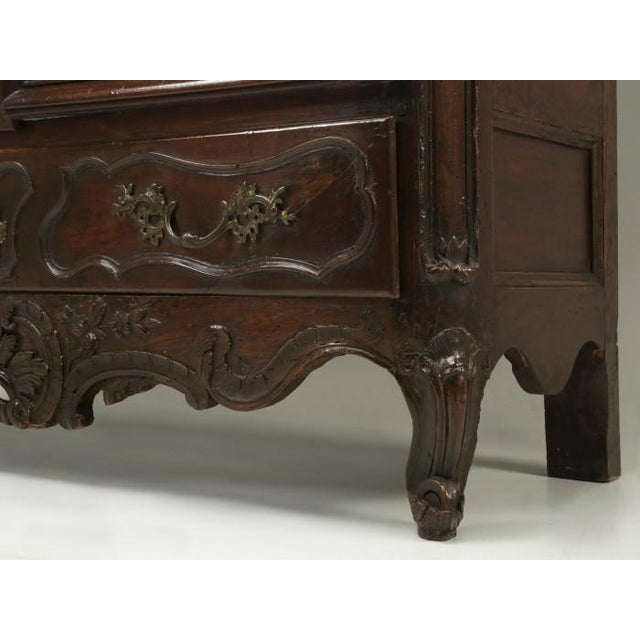 Antique French walnut china cabinet, or armoire, probably constructed over 200-years ago. Our Old Plank restoration...
