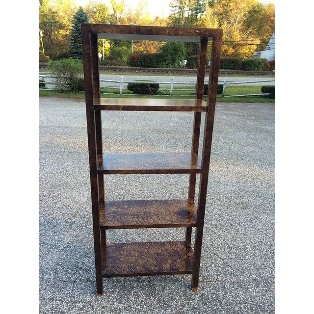 Faux Tortoise Shell Etagere by Lane - Image 3 of 5