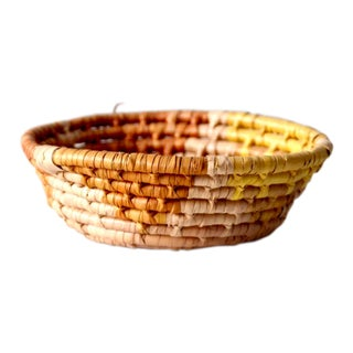 Vintage Coil Basket Bowl For Sale