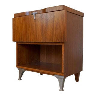 Mid-Century Modern Nightstand Cabinet For Sale