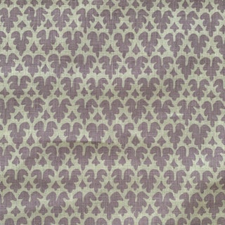 Lilac Quadrille Volpi Linen Fabric- 2 Yards For Sale