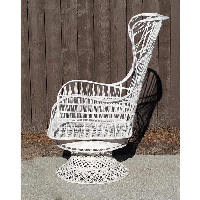 Russell Woodard Russell Woodard Fiberglass Spun Swivel Rocking Chair For Sale - Image 4 of 5