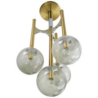 Gaetano Sciolari Four Globe Pendant For Sale