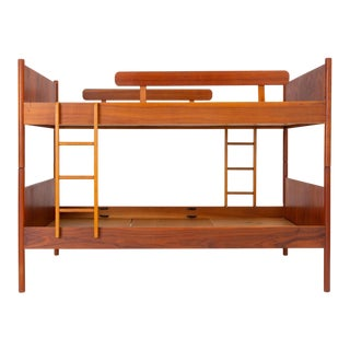 Scandinavian Modern Bunk Beds With Nightstands by Westnofa For Sale