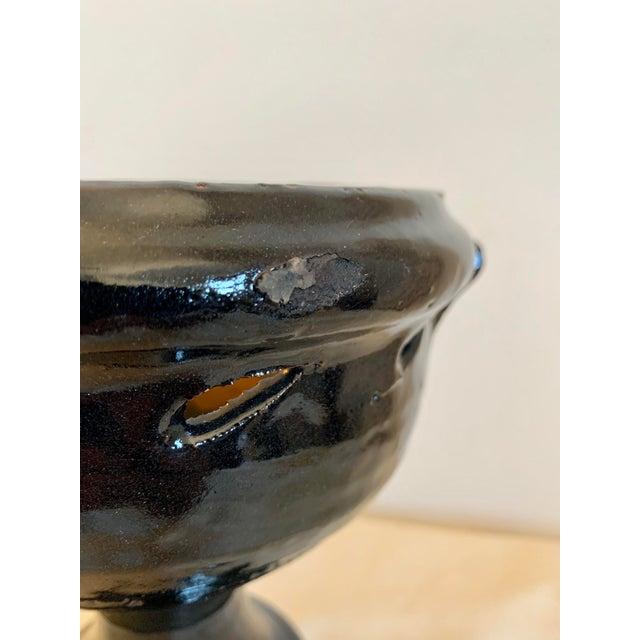 Ceramic Mid Century Hand-Thrown Terra Cotta Vase For Sale - Image 7 of 9