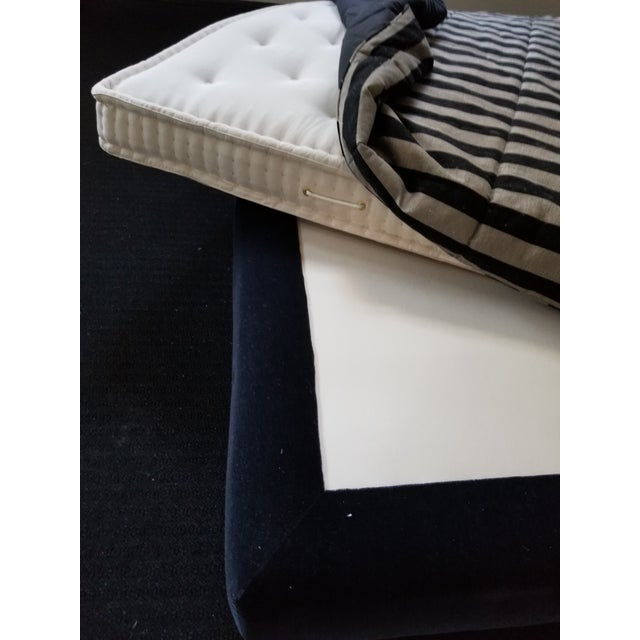 Donghia Mohair King Bedframe on Recessed Base For Sale - Image 11 of 12