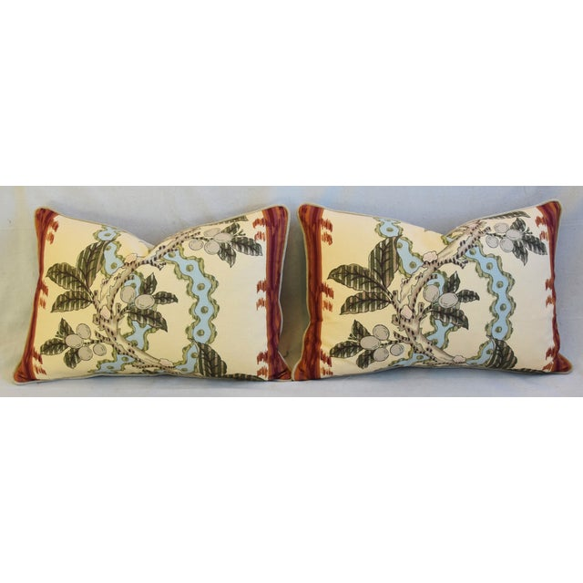 "Brunschwig & Fils Josselin Feather/Down Pillows 26"" X 17"" - Pair For Sale In Los Angeles - Image 6 of 13"