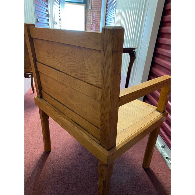 Tan 1970s Rustic Wood Side Chairs - a Pair For Sale - Image 8 of 10
