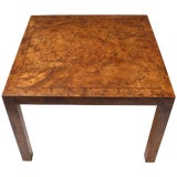 Image of Parsons Style Burl Coffee Table by John Stuart For Sale