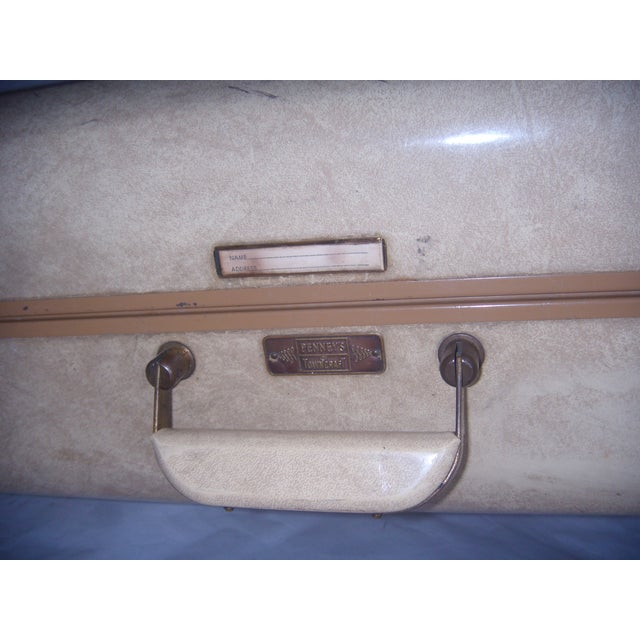 Mid Century Penney's Towncraft Vinyl Suitcase For Sale - Image 4 of 10