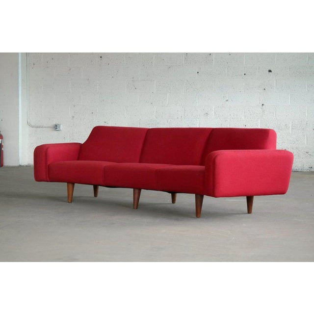 1960s Large Danish 1960s Illum Wikkelso for Aarhus Model 450 Curved Sofas - a Pair For Sale - Image 5 of 13