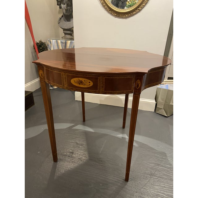 1930s Hepplewhite Mahogany Card Table For Sale - Image 10 of 11