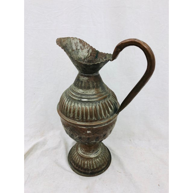 Gold Antique Indian Pitcher For Sale - Image 8 of 8