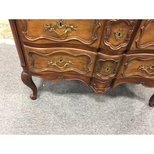 Baker Furniture Company French Provincial chest, dresser, commode, serpentine font, with two long drawers, and cabriole...