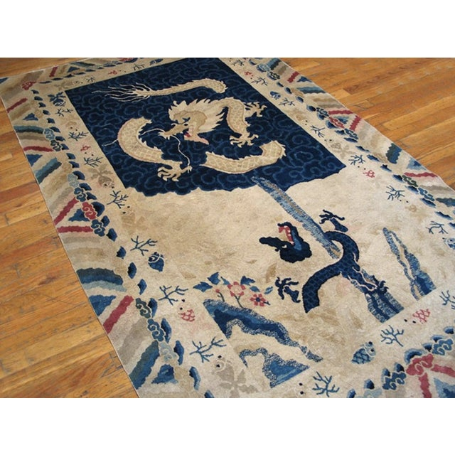 """1900 - 1909 Antique Chinese Peking Rug 4'2"""" X 6'10"""" For Sale - Image 5 of 11"""