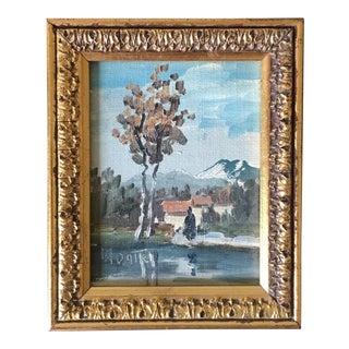 Miniature Italian Landscape Oil Painting For Sale
