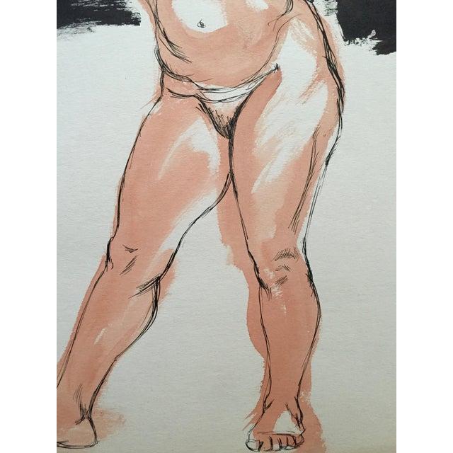 """From the estate of Jerry Opper & Ruth Friedmann Opper Flo Allen c.1950's Gouache on Paper 15"""" x 18"""", Unframed Very Good..."""