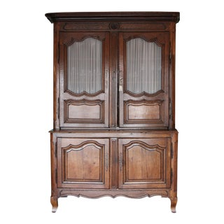 18th C. French Provincial Oak Vaisselier/Hutch/Buffet For Sale