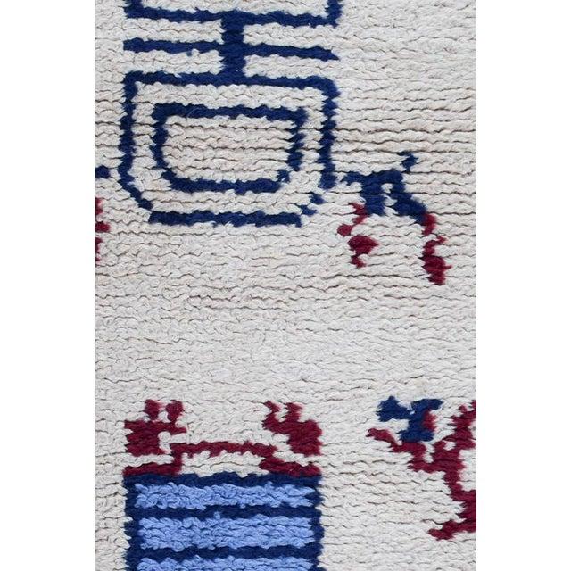 Handmade Vintage Rug For Sale In Washington DC - Image 6 of 10