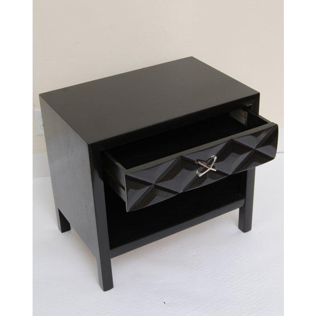 Mid-Century Modern Signed John Widdicomb Night Stands/End Tables - a Pair For Sale - Image 10 of 11
