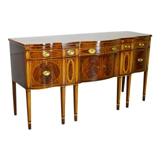 Kindel Winterthur Collection Mahogany Inlaid Sideboard