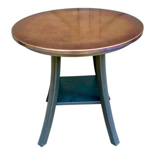 Round Copper Top Side Table For Sale