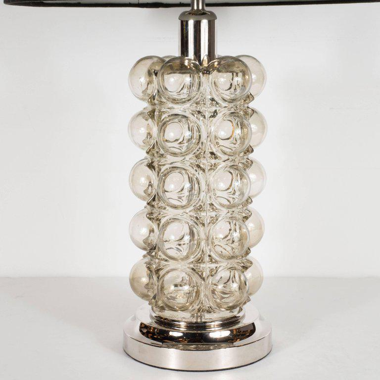 Mid Century Modernist Bubble Lamps In Smoked Glass By Nemo Of Italy   Image  2