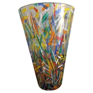Murano Muticolor Confetti Vase For Sale