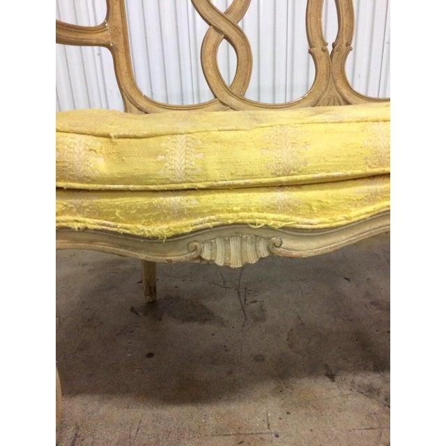 Vintage Loop Back Bench For Sale - Image 4 of 7