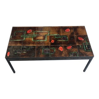 Geometric Tile Coffee Table After Roger Carron For Sale